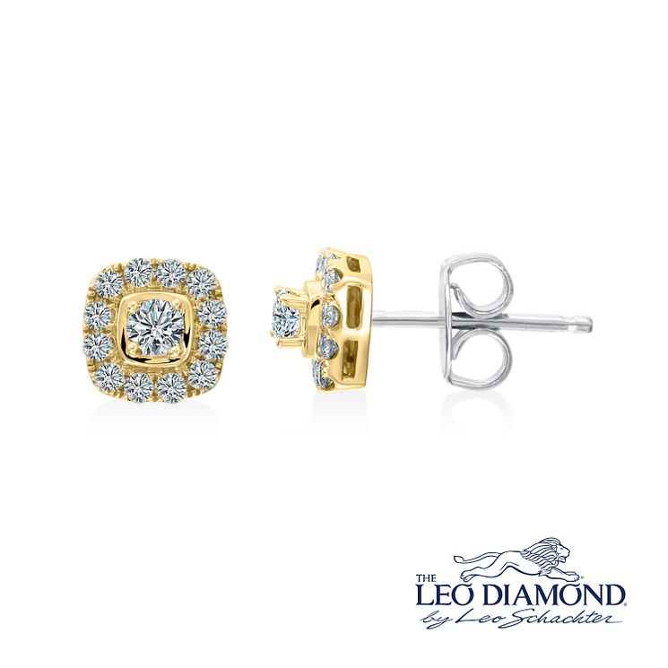 Leo Diamond 18ct Yellow Gold 0.40ct I I1 Diamond Earrings - Product number 4993934
