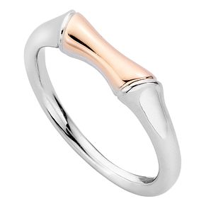 Clogau Silver 9ct Rose Gold Bamboo Ring Size L - Product number 4996178