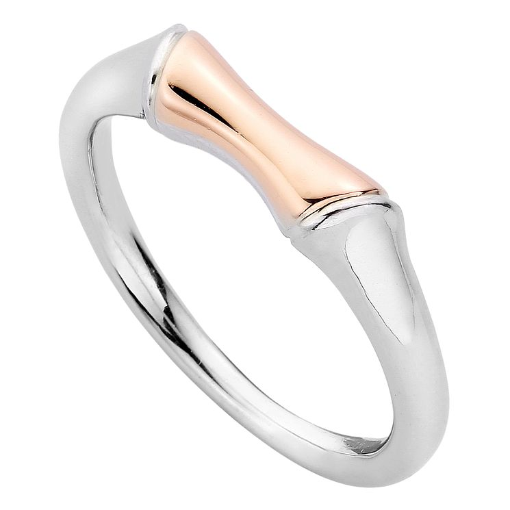 Clogau Silver 9ct Rose Gold Bamboo Ring Size N - Product number 4996194