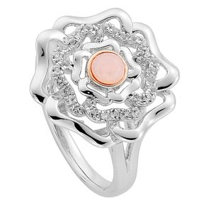 Clogau Silver 9ct Rose Gold Tudor Rose Ring Size L - Product number 4996283