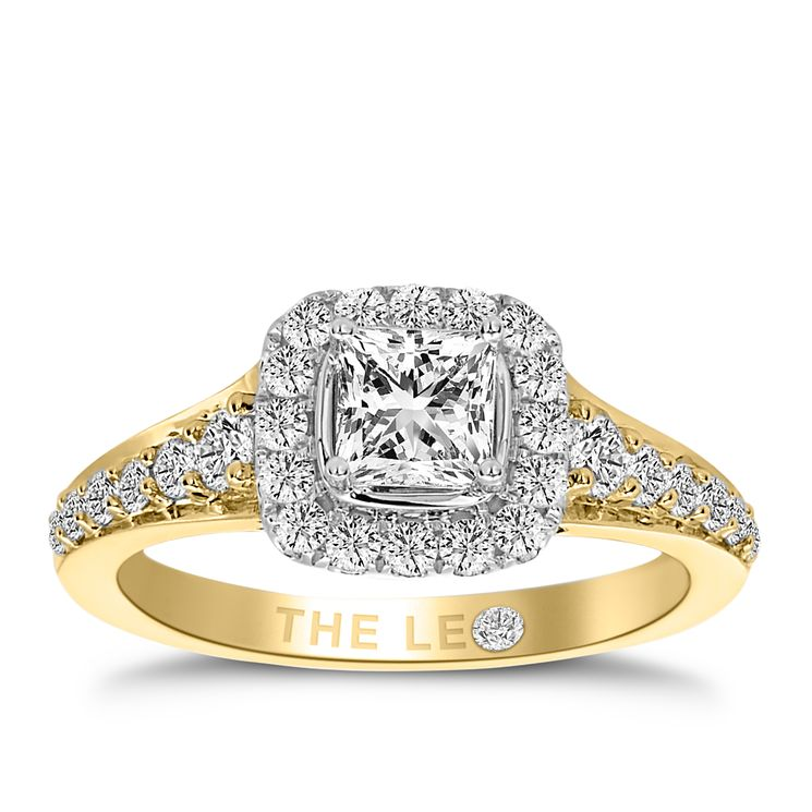 Leo Diamond 18ct Yellow Gold 1.10ct I I1 Diamond Halo Ring - Product number 4996364