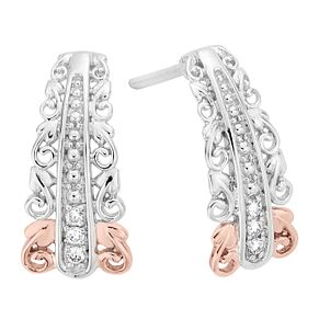 Clogau Silver 9ct rose Gold Diamond Earrings - Product number 4996844