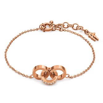 Folli Follie Rose Gold Plated Bracelet - Product number 5000580