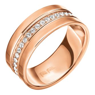 Folli Follie Rose Gold Plated Ring Size Medium - Product number 5000610