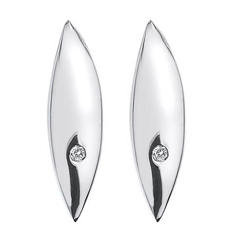 Hot Diamonds Silver Single Leaf Stud Earrings - Product number 5000742