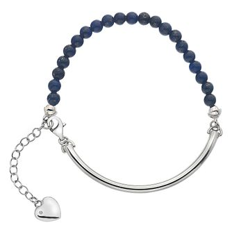 Hot Diamonds Silver Blue Lapis 4mm Bracelet - Product number 5001013