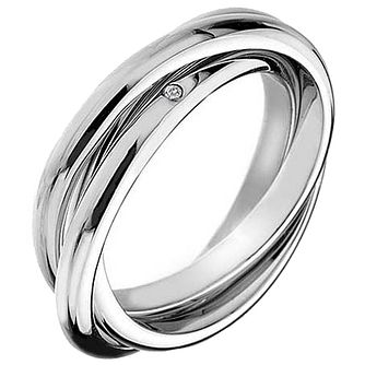 Hot Diamonds Silver Trio Ring Size K - Product number 5001102