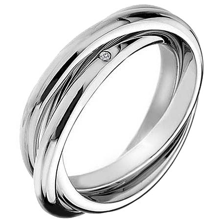 Hot Diamonds Silver Trio Ring Size P - Product number 5001129
