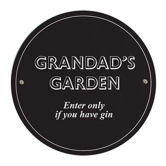 Personalised Black House/Garden Sign - Product number 5004705