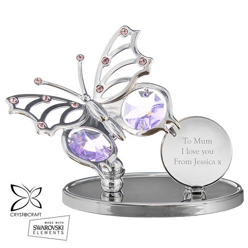 Engraved Crystocraft Butterfly Ornament - Product number 5004748
