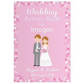 Personalised Wedding Activity Book for Girls - Product number 5004829