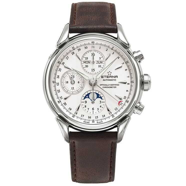 Eterna Men's Heritage Chronograph Stainless Steel Watch - Product number 5005116