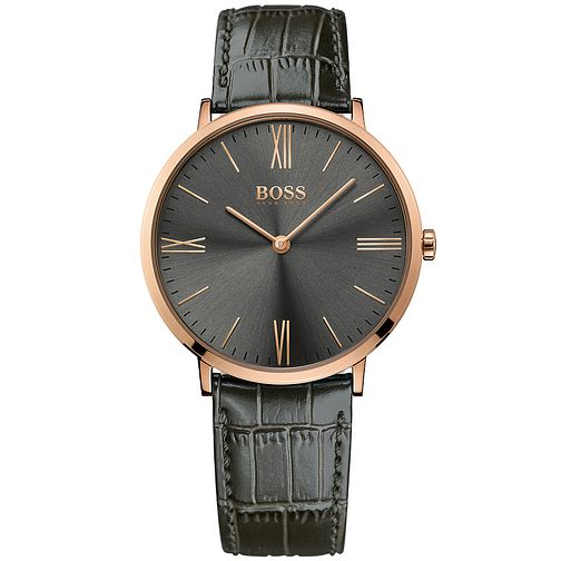 Hugo Boss Men's Rose Gold Plated Strap Watch - Product number 5006872
