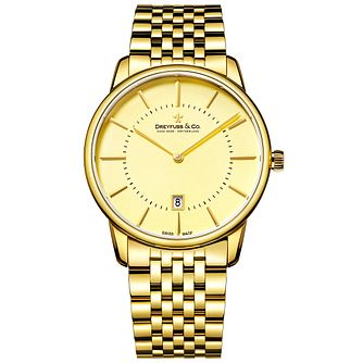 Dreyfuss & Co Gent's Gold Plated Bracelet Watch - Product number 5007399