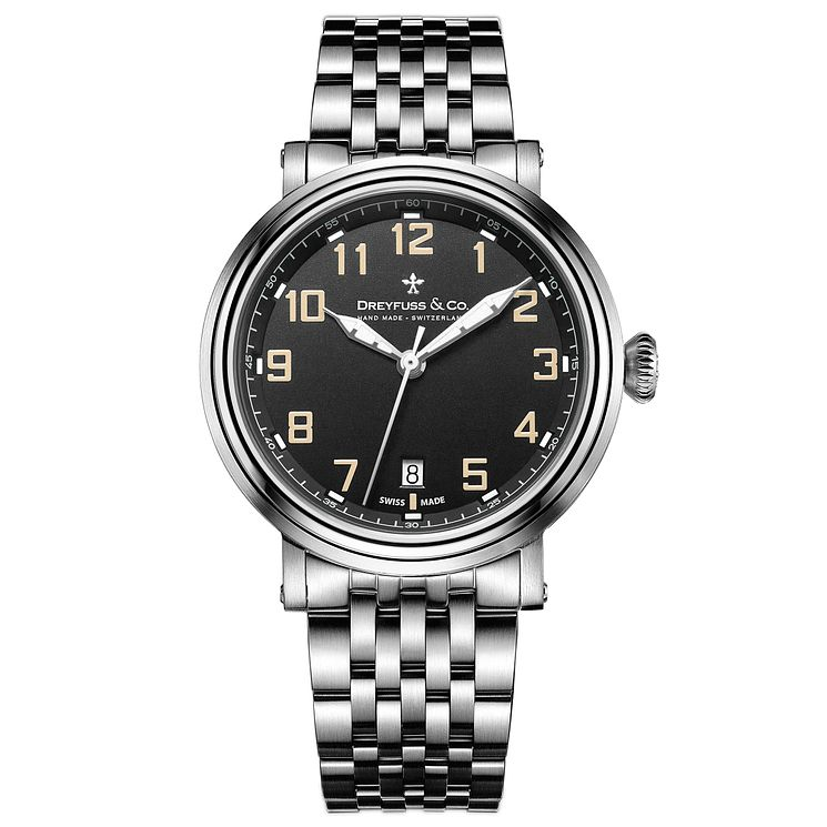 Dreyfuss & Co 1924 Men's Stainless Steel Bracelet Watch - Product number 5007461