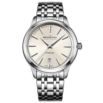 Dreyfuss & Co 1890 Men's Stainless Steel Bracelet Watch - Product number 5007518