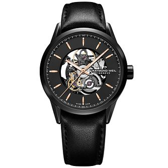 Raymond Weil Men's Ion Plated Skeleton Strap Watch - Product number 5007801