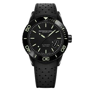 Raymond Weil Men's Ion Plated Black Strap Watch - Product number 5007828