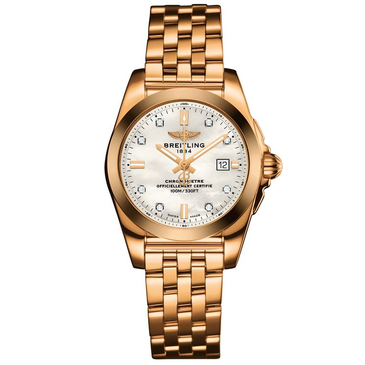 Breitling Galactic 29 Ladies' 18ct Rose Gold Bracelet Watch - Product number 5007968