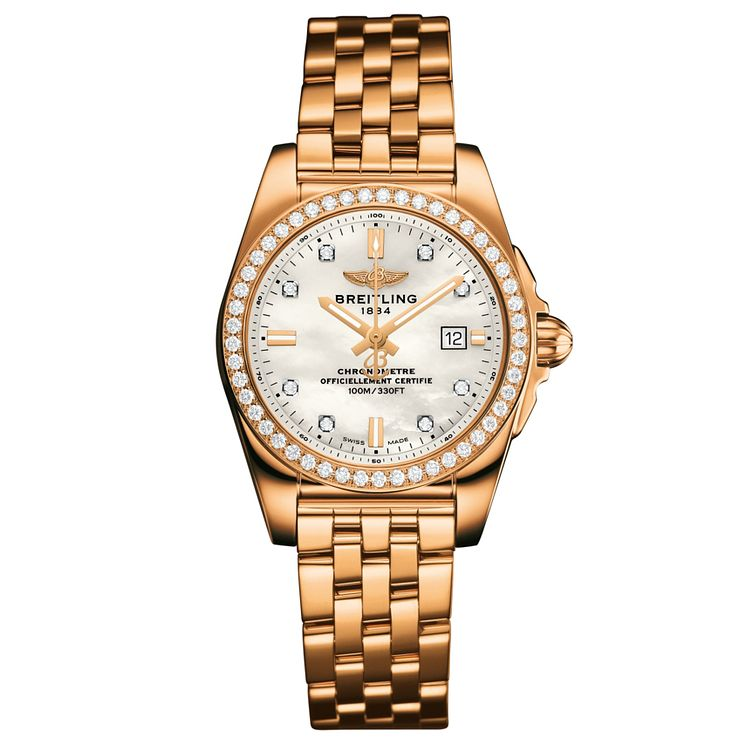 Breitling Galactic 29 Ladies' 18ct Rose Gold Bracelet Watch - Product number 5007976