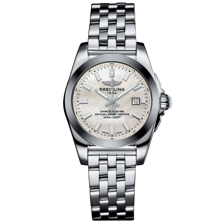 Breitling Galactic 29 Ladies' Stainless Steel Bracelet Watch - Product number 5007992