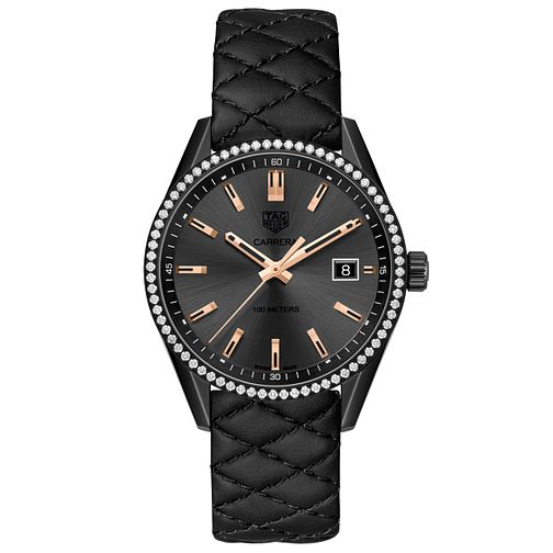 TAG Heuer Carrera Ladies' Ion Plated Strap Watch - Product number 5008743