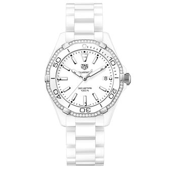 TAG Heuer Aquaracer Ladies' Stainless Steel Bracelet Watch - Product number 5008859