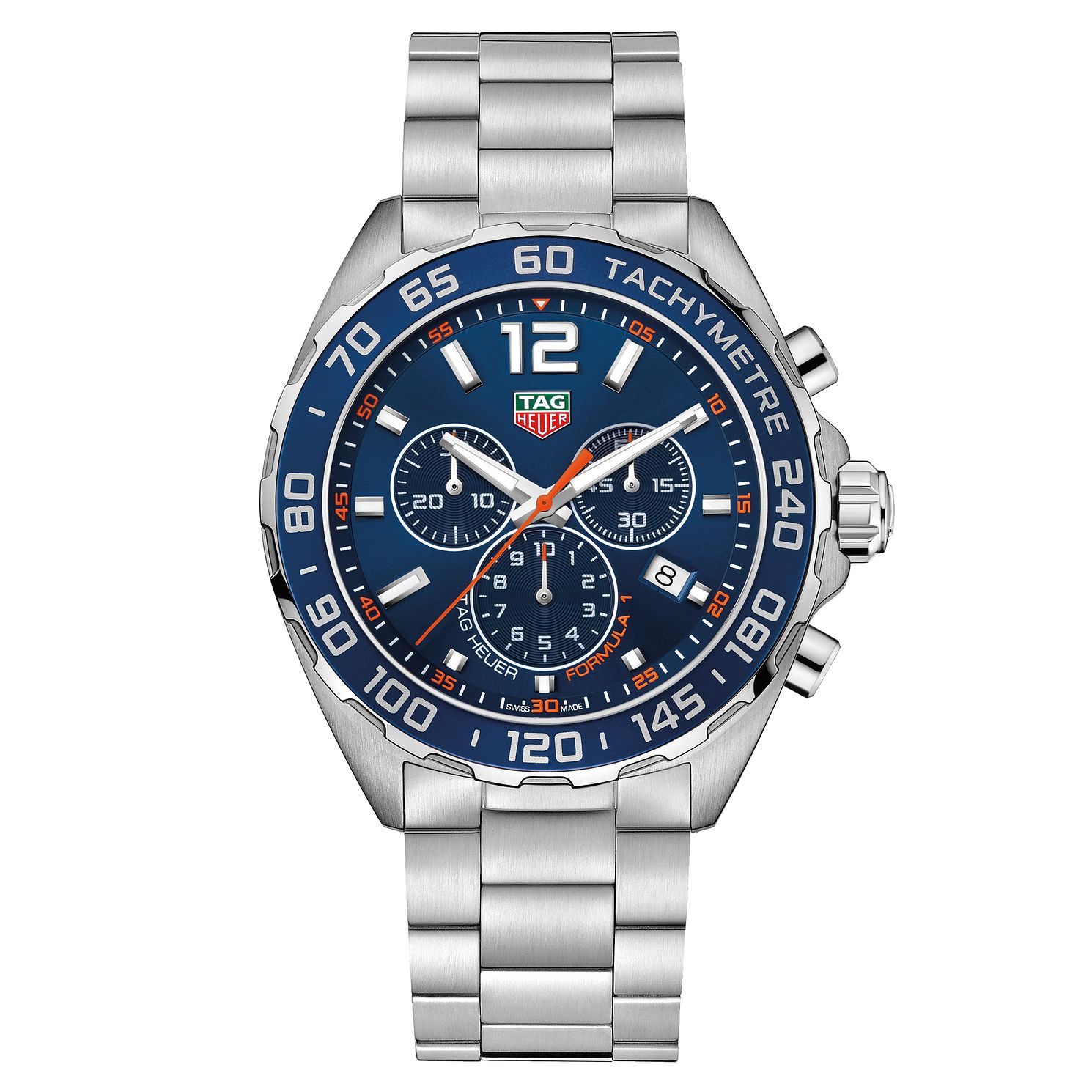 Tag Huar Watch >> Tag Heuer F1 Men S Stainless Steel Bracelet Watch Ernest Jones