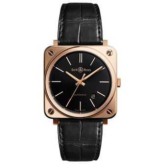 Bell & Ross Men's Rose Gold Strap Watch - Product number 5009790