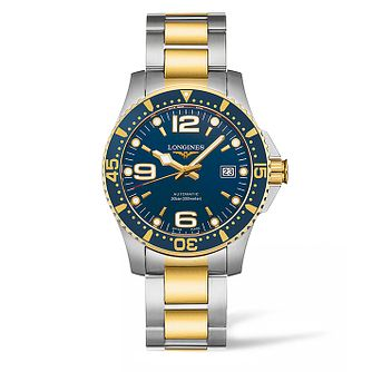 Longines HydroConquest Men's Two Colour Bracelet Watch - Product number 5011647