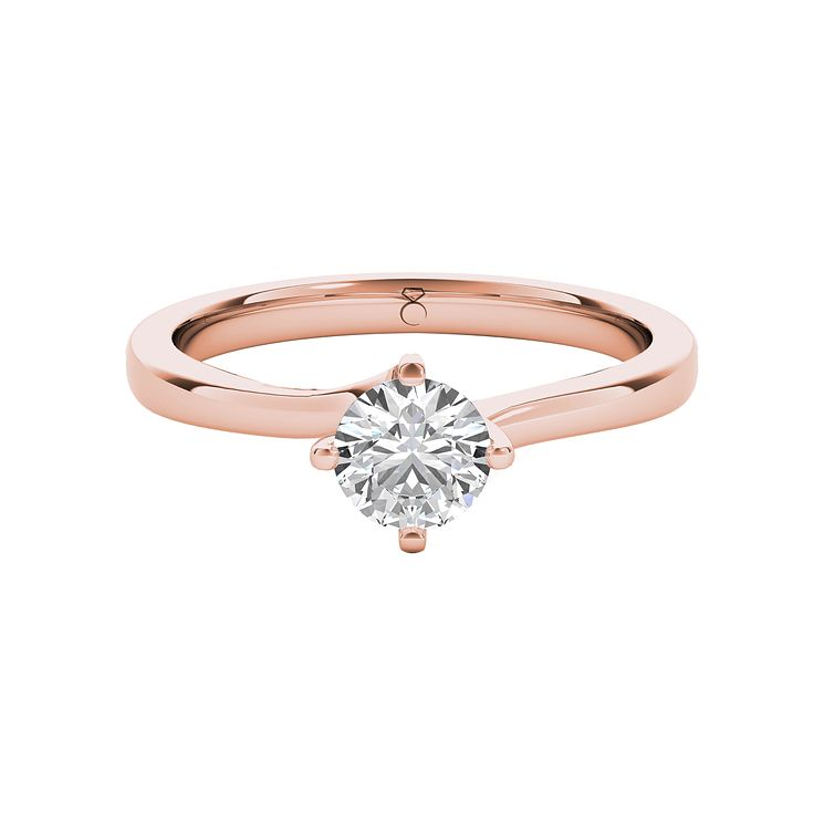 The Diamond Story 18ct Rose Gold 0.33ct Diamond Ring - Product number 5015359
