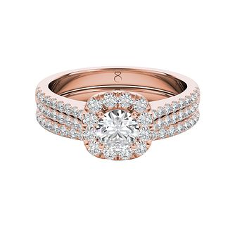 The Diamond Story 18ct Rose Gold 1ct Diamond Bridal Set - Product number 5015626