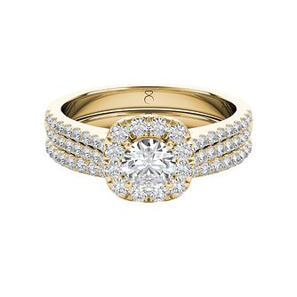 The Diamond Story 18ct Yellow Gold 1ct Diamond Bridal Set - Product number 5015758