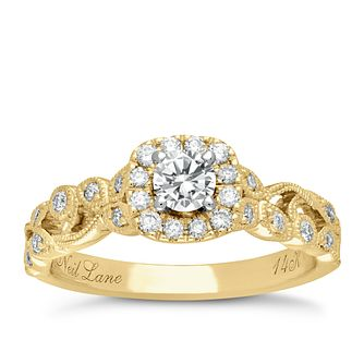 Neil Lane 14ct Yellow Gold 0.54ct Diamond Vine Ring - Product number 5024897
