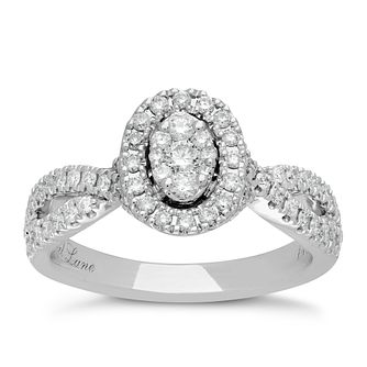 Neil Lane Platinum 0.62ct Halo Twist Ring - Product number 5027004