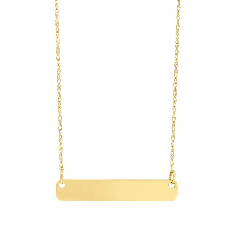 "9ct Gold Plain Bar Necklace With 18"" Chain - Product number 5029554"