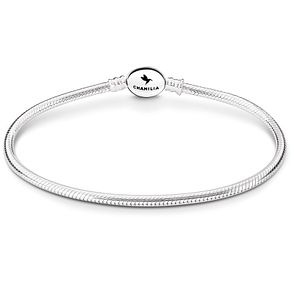 Chamilia Sterling Silver Oval Snap Bracelet 7.5 Inch - Product number 5042763