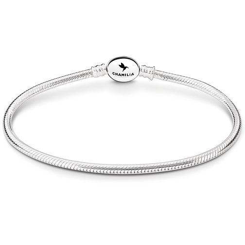 Chamilia Sterling Silver Oval Snap Bracelet 8.3 Inch - Product number 5042798