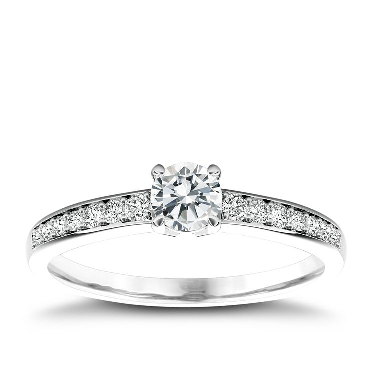 The Diamond Story Platinum 0.50ct diamond ring - Product number 5045584