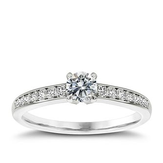 The Diamond Story Platinum 1/3ct diamond ring - Product number 5045711