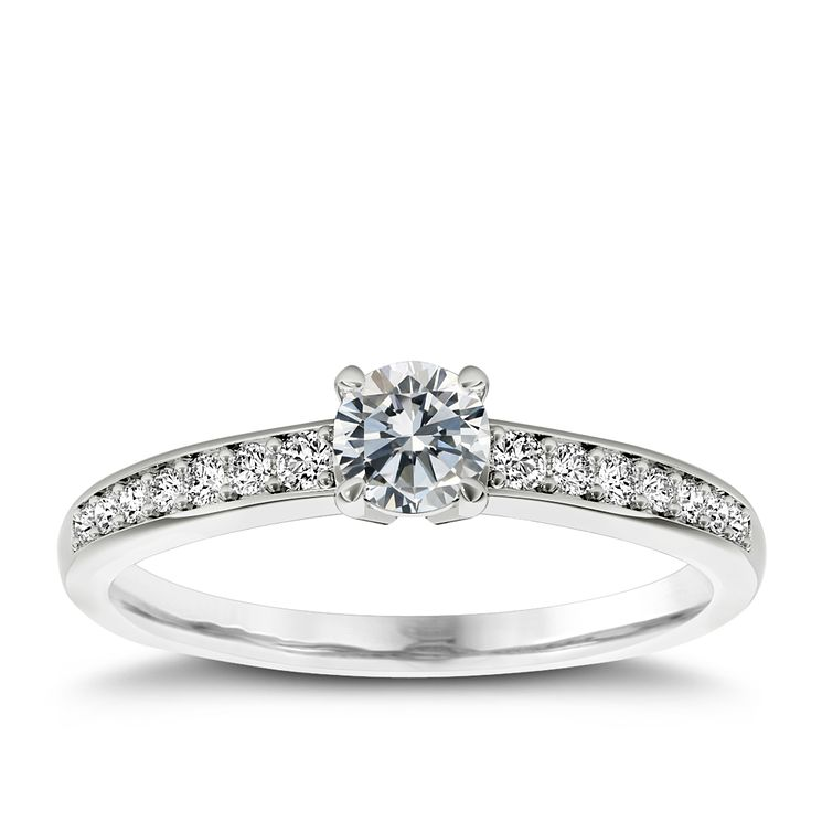 The Diamond Story Platinum 1/3 carat diamond ring - Product number 5045711
