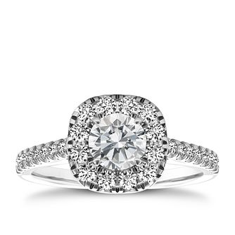 The Diamond Story Platinum 1 carat diamond ring - Product number 5045843