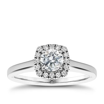 The Diamond Story Platinum 1/3ct diamond ring - Product number 5046025