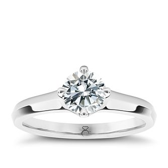 The Diamond Story Platinum 1/4ct diamond ring - Product number 5046173