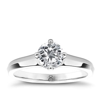 The Diamond Story Platinum 1/2ct diamond ring - Product number 5046467