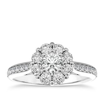 The Diamond Story Platinum 1ct HI I1 Diamond Ring - Product number 5048583