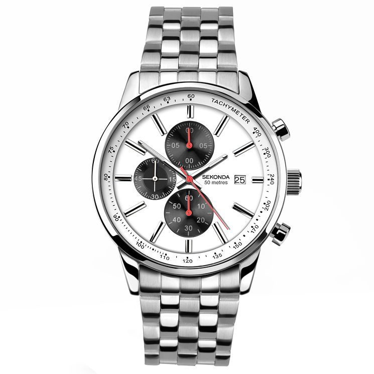 Sekonda Chronograph Stainless Steel Bracelet Watch - Product number 5052491
