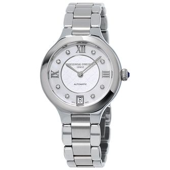 Frederique Constant Stainless Steel Stone Set Bracelet Watch - Product number 5053625