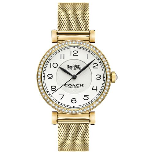 Coach Madison Ladies' Gold Plated Stone Set Bracelet Watch - Product number 5053803
