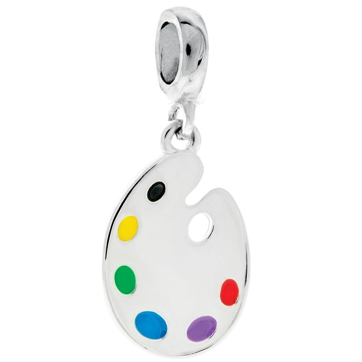 Chamilia Sterling Silver & Enamel Painter Palette Charm Bead - Product number 5056810